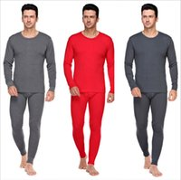 Wholesale Thermal Wear For Men - Men thermal Underwear 2016 Autumn Winter Beautiful 7 Colors for Options 100% Cotton Comfortable to Wear High Quality Free Shipping