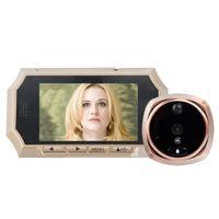 Wholesale Pir Ir Camera - 4.3inch video peephole door eye IR Night vision PIR Motion Sensor digital peephole camera Photos Taking Video Recording Max 32GB
