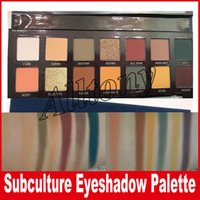 Wholesale Best Simple - New SUBCULTURE Eyeshadow Palette Brand 14 color eyeshadow Palette Best quaility Makeup Eye Shadow DHL free