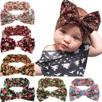 Wholesale rabbit stick - Baby Kids Girl Toddler Infant Flower Floral Hairband Turban Knot Rabbit Bowknot Headband Headwear Hair Band Accessories