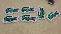Wholesale Clothing Patterns Sewing - 2017 New Animal Crocodile Pattern embroidered patches for sewing Bag clothing patches iron on sewing accessories applique