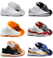 Wholesale Cheap Gum - Air retro 11 low Closing Ceremony Navy Gum men basketball shoes Barons Varsity Red Bred Legend Blue cheap sports sneakers US size 8-13
