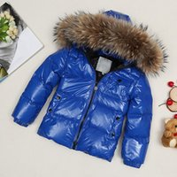 Wholesale Children Detachable Collar - 2017 New Fashion Children Winter Goose Down Jacket Girl Winter Coat Kids Warm Thick Fur Collar Hooded long down Coats For Teenage 4Y-14Y