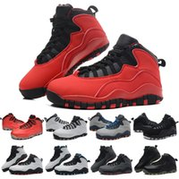 Wholesale Ladies Patchwork Shoes - retro 10 Basketball Shoes Kids Shoes Girls Boys Sports sneakers Lady Liberty Bulls Over Broadway j10 10s shoes Children's Athletic Shoes