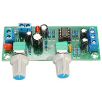 Wholesale Pass Amplifier - Freeshipping 3pcs\Lot New DC 12V-24V Low-pass Filter NE5532 Subwoofer Process Pre-Amplifier Preamp Board
