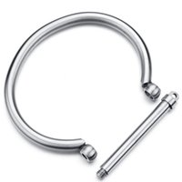 Wholesale Stainless Steel Shackles For Bracelets - Factory Direct Fashion Jewelry Shackle Screw Bracelet Cuff Bangle Titanium Steel Plated Bangles Bracelets For Christmas Gift