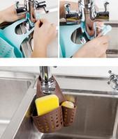 Wholesale Hanging Bath Basket - New Arrive Portable Home Kitchen Hanging Drain Bag Basket Bath Storage Tools Sink Holder