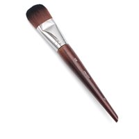 Wholesale Round Wood Handle - Professional Makeup Brush Artist Long Wood Handle Classic Straight Bristle 108 Large Round Foundation Brush Cosmetic Tool Brown