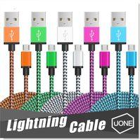 кабельная медь оптовых-Micro USB кабель нейлон плетеный медь зарядное устройство синхронизации данных молнии кабель шнур для Andriod смартфон samsung galaxy S7 edge S6 S4