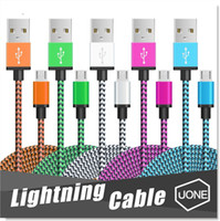 cabos de carregador trançado venda por atacado-Micro USB Cabo Nylon trançado cabo de cobre Carregador Sync Cable dados para Andriod entregas samsung borda galáxia S7 S6 S4
