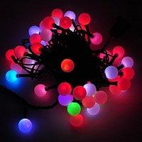 beste außenleuchten großhandel-USB 50 Birne beleuchtet 5m / 16.5ft LED bunte Änderungs-Schnur am besten für im Freien InnenPartei / Hochzeit / Weihnachtsdeko - DHL