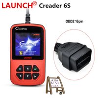 Wholesale Obd2 Scanner Launch X431 - Launch X431 Creader 6 Plus 2017 Code Reader Original Launch Creader 6S OBD2 scanner ASIAN Version DHL free shipping