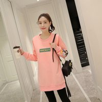 Wholesale Maternity Long Sweater Dress - The new spring and summer Korean large code maternity long paragraph sweater coat dress breast feeding of pregnant women pregnant child