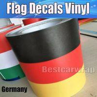ko großhandel-Neues design Deutschland Flagge Haube Streifen Auto Aufkleber Aufkleber für Motorhaube, dach, trunk für Volkswagen / Mini DIY Auto aufkleber 15 cm x 30 mt / Rolle