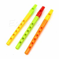 Wholesale Musical Instruments Set Kids - Wholesale- Set Of 3 pcs Piccolo Flute Pipes Musical Instrument Early Education Toy Kid Gift W15