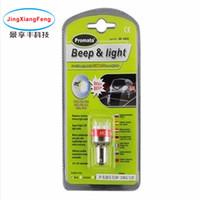 1156 ledli ters ışıklar toptan satış-Bip Ters Alarm / Buzzer Işık LED Geri Işık Araba Led Rogue Lambası Dönüş Sinyali Ters Geri Kuyruk Işık Beyaz