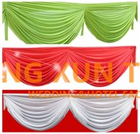 Бесплатная доставка Ice Silk Swag Drape Only Can Fir Table Skirt \ Backdrop Curtain And Other Wedding Decoration