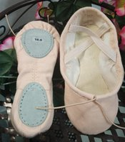 Wholesale Dance Shoes Slippers - full cotton canvas ballet slippers dance shoes ,Comfort soft two split leather sole for all ages