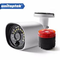 Wholesale Security Speakers - 1080P 2MP AHD CVI   TVI   CVBS 4 IN 1 Bullet Camera Outdoor White LED IR 20M Alarm Speaker PIR Sensor Security Bullet Camera