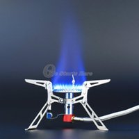Wholesale Powered Ultralight - Wholesale-Ultralight Dpower Aluminum Alloy Stainless Steel Outdoor Burn Camping Gas Stove Gas powered Stove with Piezo Ignition Hiking