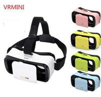 Wholesale Helmet Google - New VR BOX III 3.0 Mini Virtual Reality Helmet 3D Glasses Google Cardboard VR Headset for 4.5-5.5 inch Mobile