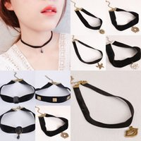 Wholesale gothic wedding chokers - Hot Selling Gothic Style Vintage Hollow-out Fashion Lace Necklace Statement Choker Necklace For Women chokers wedding necklace maxi statemen