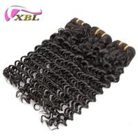 Wholesale Wholesale Hair Piece China - Hot Sell Hair Products 5A Top Quality XBL Hair Natural Deep Wave Huaman Hair Made In China