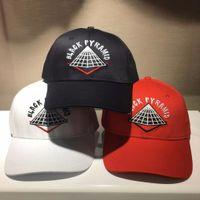 Wholesale Free Style Pyramid - Wholesale- High quality New style adjustable men Hats hip hop Unisex pyramid Baseball Caps Casual black white red diamond hat bone gorras