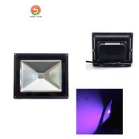 Wholesale Led Special Effects Lighting - IP65 50w led flood light UV Chip wavelength 395-405nm Ultra Violet Waterproof 85V-265V AC for Curing Glow in the dark and Special effects