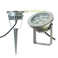 ingrosso luci spot spot-AC / DC12V IP67 Outdoor Spike Luci LED ad alta potenza da giardino Spike Light 9W Prato Spot luce LED Landscape Lampada 60 ° 6pz