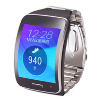 Wholesale Gears Replacement - Wholesale-V-MORO Adjustable Metallic Replacement Wristband Fitness Bracelet Strap For Samsung Gear S SM-R750 Steel Wrist Band R750