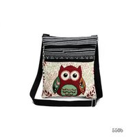 Wholesale Kids Fashion Mini Tote Bags - New Fashion cute kids Embroidered Owl Messenger Bag girls Mini Shoulder Bag women Female Vintage Cute Phone Crossbody Post Bag
