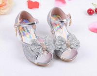Wholesale Kids High Heels Wholesale - Fashion Girl Shoes Children Princess Sandals Kids Girls Wedding Shoes High Heels Dress Shoes Party Sandals For Girls 4 Colors