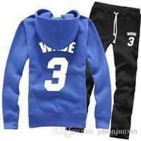 Men black bulls hoodie - New Basketball Chicago Wade Bulls Spring Winter Pure Cotton Fleece Hoodies Sweater Coat Jackets Sports Pants Tracksuit