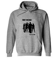 Wholesale Dresses For Big Figure - Wholesale-Men Hoodies For The Walking Dead Figure Print Sweatshirts Homme Outdoor Sportwear Clothing Couples Dress Big Size M-3XL CD1001