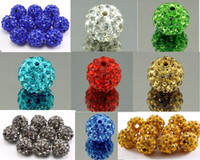Wholesale Metal Beads For Shamballa Bracelets - Cheap! 100pcs lot 10mm Mixed Color Micro Pave CZ Rhinestone Disco Ball Crystal Shamballa Bead Bracelet Necklace Beads for Sale