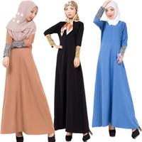 geleneksel sıcak kıyafetler toptan satış-Son tasarım sıcak satmak pullu kol bütün vücut müslüman elbise etnik giyim kadın forck tasarım geleneksel elbise