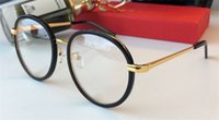 Wholesale Glasses Transparent For Men - New vintage German designer eyewear square frame transparent lens optical glasses for men punk style top quality with original box 9050