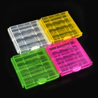 Wholesale Aa Battery Cover - Coloful AA AAA Battery Holder Case 4 Hard Plastic Storage Box Cover For 14500 10440 Battery