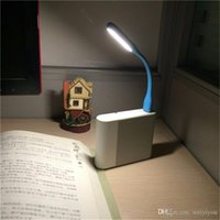 Mini USB LED Light Flexible Portable Glow lâmpada de mesa de leitura brilhante para Power Bank Computer Nightlight