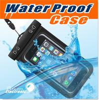 bolsitas de compás al por mayor-Bolso seco Bolso impermeable bolsa de teléfono móvil de protección PVC con bolsas de brújula para buceo Deportes de natación para iphone 6/6 plus S7 NOTA 7