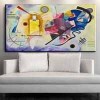 Wholesale Kandinsky Abstract Paintings - Prints Wassily Kandinsky Abstract Canvas Painting No frame art posters Print Canvas art prints 24x48 inch Wall Decor