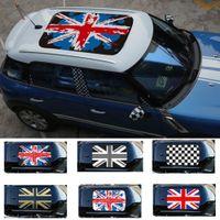 roofs plastic venda por atacado-Styling Anti-UV Adesivo de Telhado Jack União Adesivos de Carro Translúcido para BMW MINI Um Cooper Countryman F55 F56