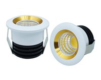 Wholesale Led Spots Bathroom 3w - 3W COB Led Down Lights Mini Cabinet Downlights Dimmable Led Spot Ceiling Recessed Lights With Led Driver AC 110-240V   12V