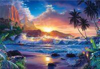 Wholesale Paintings Beach Sunsets - New needlework Diy diamond painting cross stitch kits full resin round diamond embroidery Mosaic Home Decor landscape Sunset Beach yx0087