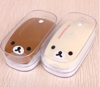 Factory Supply Fashion Rilakuma Designer USB Souris sans fil optique avec Pad 2.4G Cartoon Mice pour ordinateur PC Laptop Desktop