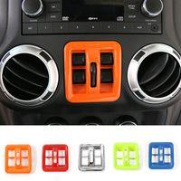 jeep windows venda por atacado-Interruptor da janela Botão Moldura Tampa Guarnição Alta qualidade New Arrival Acessórios Interior Do Carro Apto Para Jeep Wrangler 2011-2017