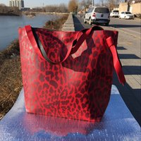 Top Quality Famous Brand Large Big Totes Bolsas de ombro Pu Leather Fashion Leopard Print Message Bag no102