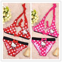 Wholesale Swimsuits For Baby Cartoons - Hot 2016 New Summer Baby Girl Swimwear Kids Cartoon Hello Kitty Swimsuit For Girls Bathing Suits Cute Bikini Baby Swimsuit Child