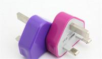 cargador de android es al por mayor-Adaptador de corriente alterna para el cargador de pared de Reino Unido colorido para Android Tablet PC 3 Pines UK Plug USB Charger